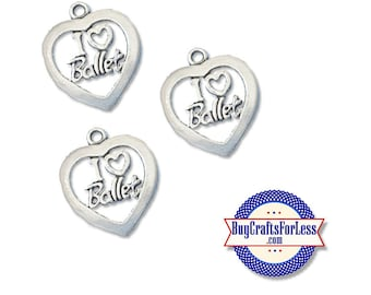 Love BALLET Charm, 6, 12, 24 pcs +FREE SHiPPiNG & Discounts*