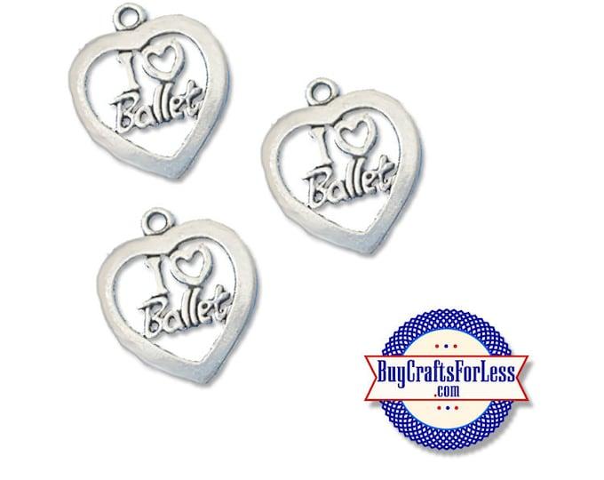 Love BALLET Charm, 6, 12, 24 pcs +FREE SHiPPiNG & Discounts*