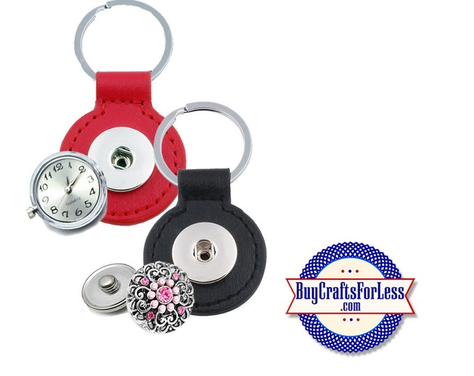 SNAP Button KEY RiNG for 18mm Interchangable Snap Buttons, 2 COLORs +FREE Shipping & Discounts