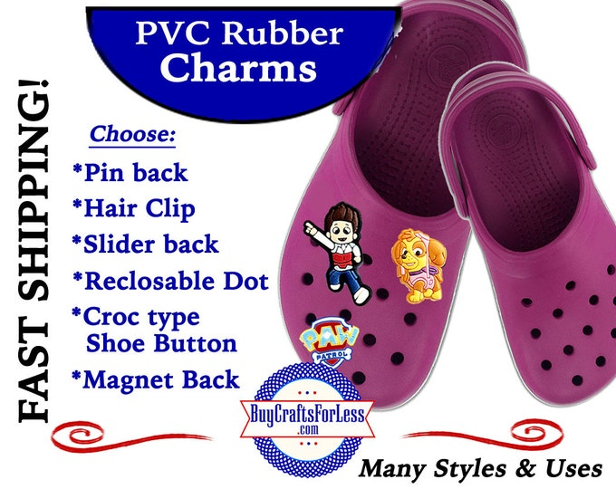 20% off *SALE* PVC Charms, The Puppiesl *Choose back-Button, Hair Clip, Magnet- 99cent shipping - 39cents ea addt'l