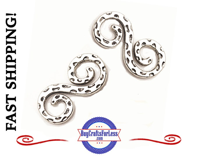 S Connector Charm, 4 pcs  +FREE SHiPPING & Discounts*