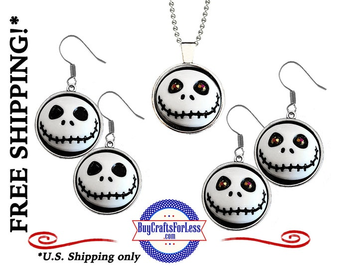 SKELETON EARRiNGs or SKeLETON PENDANT, Very CUTe For You or a GiFT, 25mm  +FREE SHiPPiNG & Discounts*