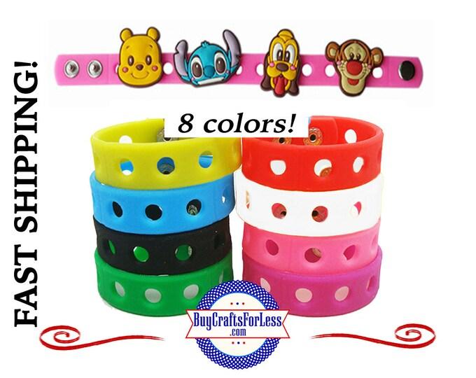 "20% off SALE -PVC Charm BRACELETs, 18cm (7""), 8 colors,GREAT GiFT-*Discount for multiples -99cent shipping -39cents ea addt'l"