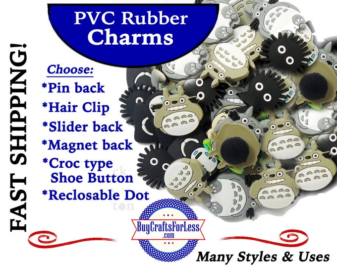 20% off *SALE* -PVC Charms, The Bellies *Choose back-Button, Hair Clip, Magnet- 99cent shipping - 39cents ea addt'l