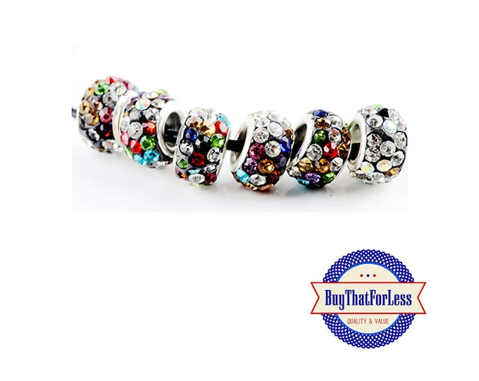 CLEARANCE - Glittery Glass BEADs, MULTI oolor, 12 pcs, +FREE Shipping & Discounts*