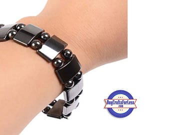 HEMATITE Bracelet, Magnetic Squares +FREE SHIPPING & Discounts*
