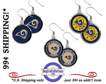 FREE CHaRM with EARRINGs, 18mm Cabochon Football GiFT CHaRM, Great Football GiFT +99cent SHiPPiNG - 39cents ea addf'l item
