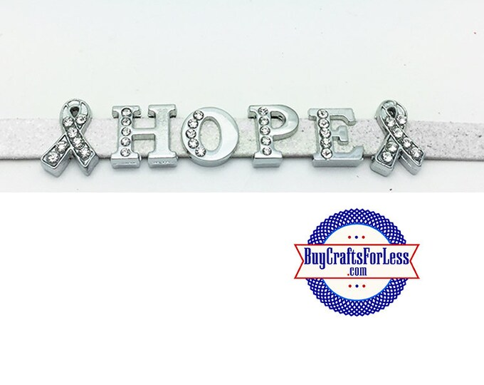 AWARENESS Ribbons and HOPE 8mm Letter Charms +FREE Shipping & Discounts*
