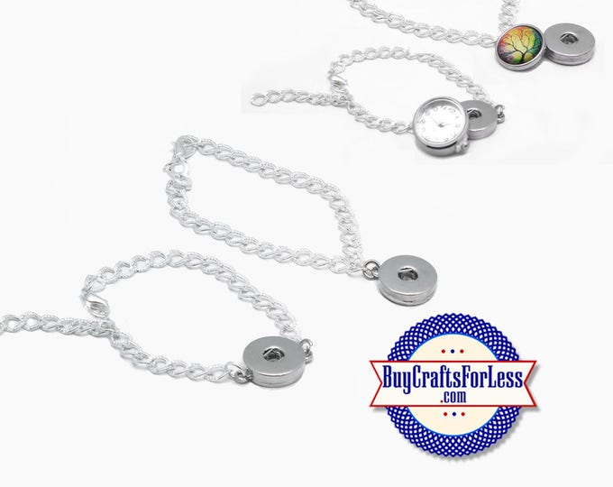 SNAP Button Bracelets, for Changeable 18mm Snap Buttons  +FREE Shipping & Discounts