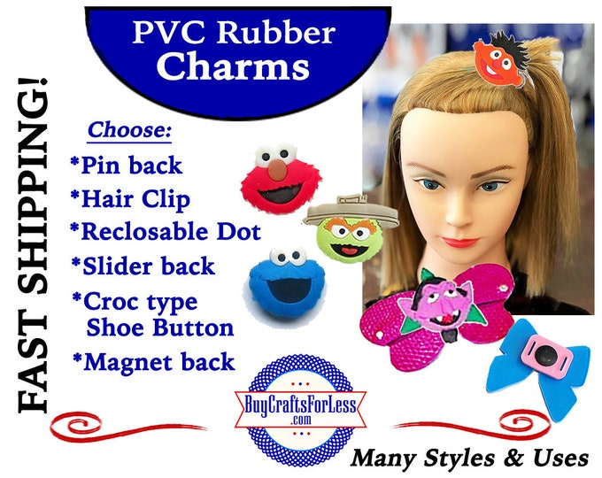 20% off *SALE* PVC Charms, The STReeT KiDS *Choose back-Button, Hair Clip, Magnet- 99cent shipping - 39cents ea addt'l