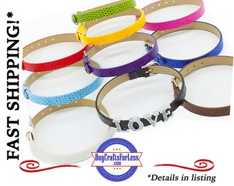 14 COLORS-Textured Slide BRACELET for 8mm Slider Letters and Charms +FREE Shipping & Discounts*