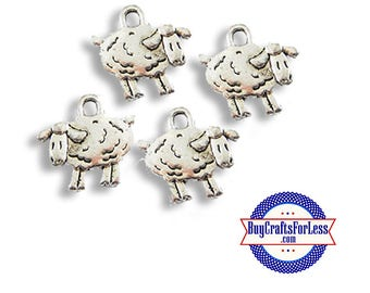 Mini SHEEP Charms, 6 pcs +Discounts & FREE Shipping*