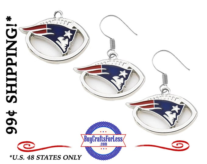 NEW ENGLaND EARRiNGs or CHARMs - VeRY NiCE!  +99cent SHiPPiNG