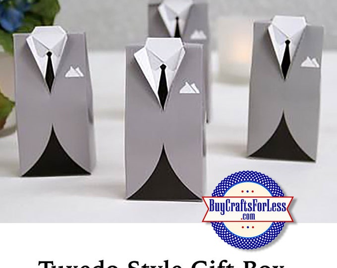 Tuxedo GiFT BOX or PARTY FAVoRS with Tissue +FREE SHiPPiNG & Discounts*