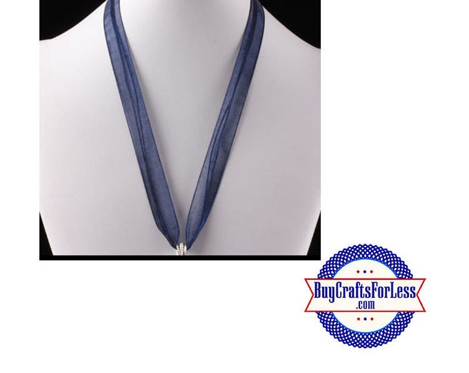Ribbon CORD necklace, NAVY +FREE Shipping & Discounts*