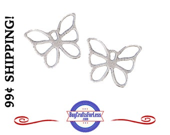 Mini CUTE Butterfly Charms, 8 pcs  *99cent Shipping