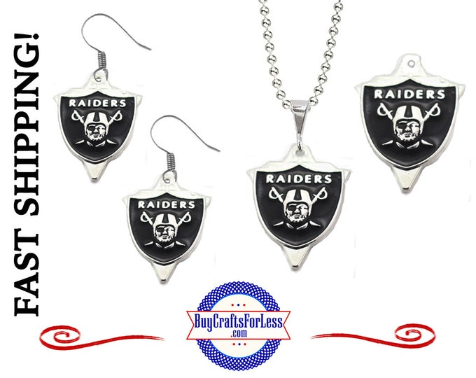 RAIDERS Football EARRINGs, PENDANT or CHARMs - Super CUTE!  +99cent SHiPPiNG
