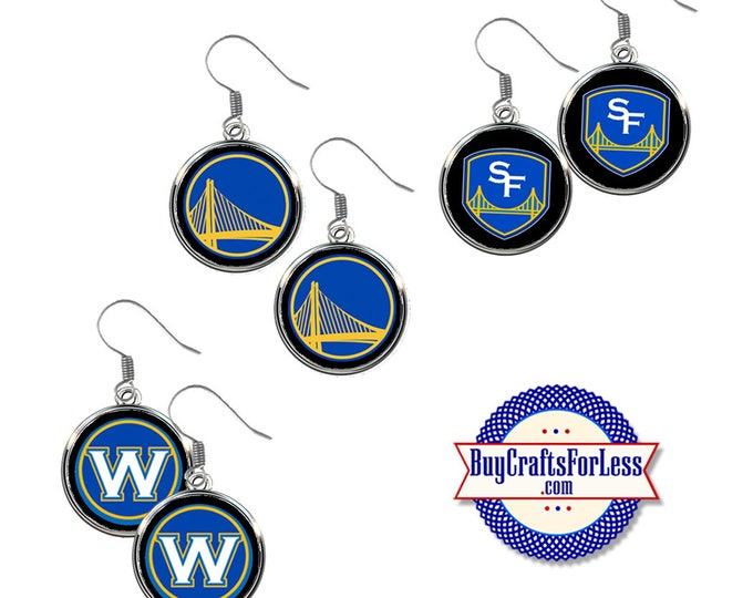 GOLDEN STaTE WARRIORS EARRiNGS, 3 Designs +FREE SHiPPING & DiSCOUNTS *