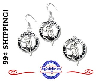 COWGIRL EARRINGs or CHARMs, 2 pcs-Very Cute for every COWGiRL  +99cent SHiPPiNG