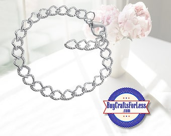 Textured Chain Charm BRACELET, clip end +FREE Shipping & DISCOUNTS*
