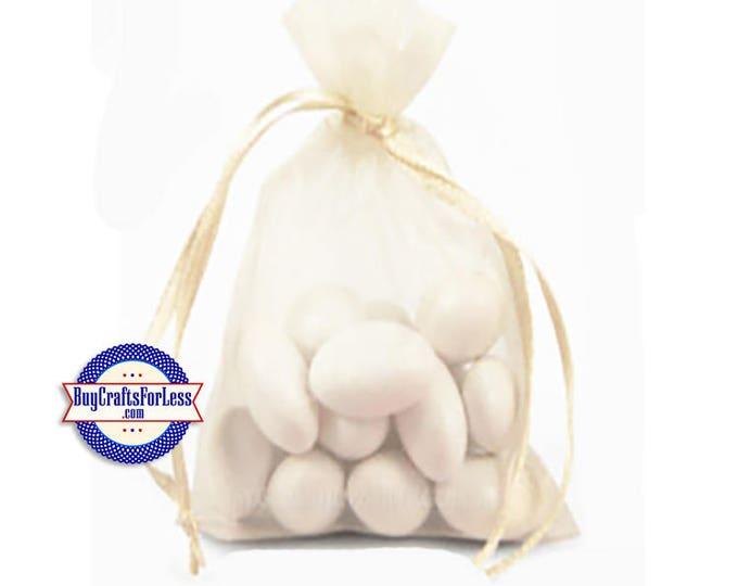 """Sheer Organza PARTY Bag-its, 12 pcs 4 1/2"""" x 7"""", Ivory +FREE SHIPPING & Discounts*"""
