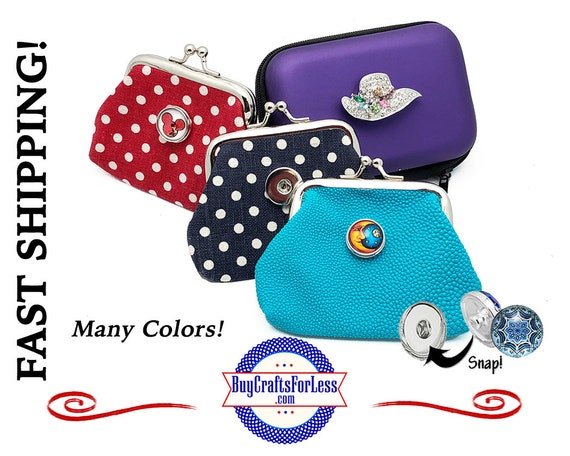 SNAP Coin Purse, Wallet, Tech Storage Case - Customize With 18mm INTERCHaNGABLE Buttons +FREE Shipping & Discounts