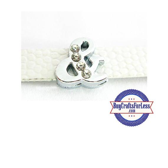 Rhinestone AMPERSAND (&) for 8mm SLIDE Bracelets, Collars, Key Rings +FREE Shipping / Discounts*