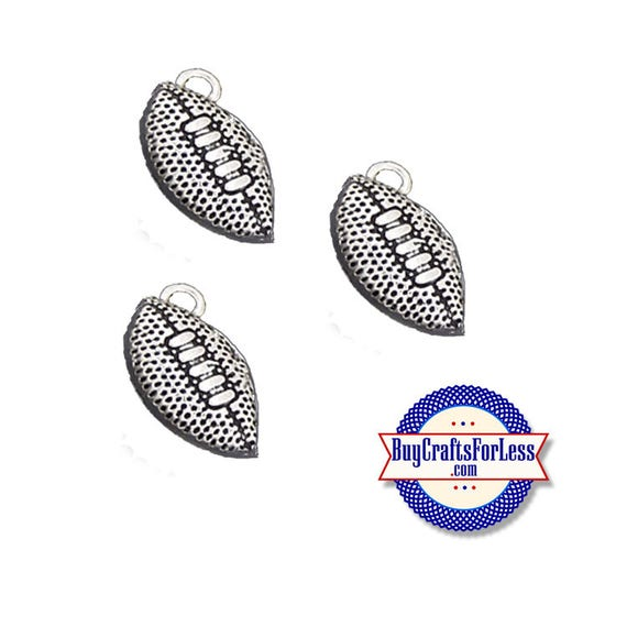 FOOTBALL Charms, New, 6, 12 or 25 pcs  +FREE ShiPPiNG & Discounts*