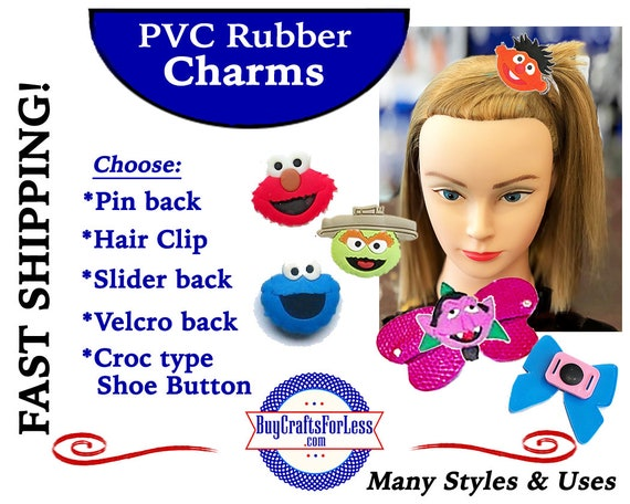 PVC Charms, SESAME STReeT *20% OFF Any 4 PvC Charms+ShipFREE *Choose back-Button, Pin, Slider, Hair Clip, Velcro, Magnet