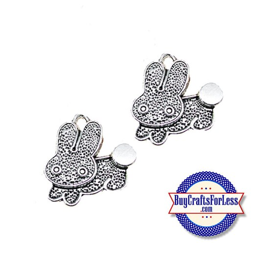 Lil' BUNNY Charms, Cute, 6, 12, 24 pcs +FREE SHiPPiING & Discounts*
