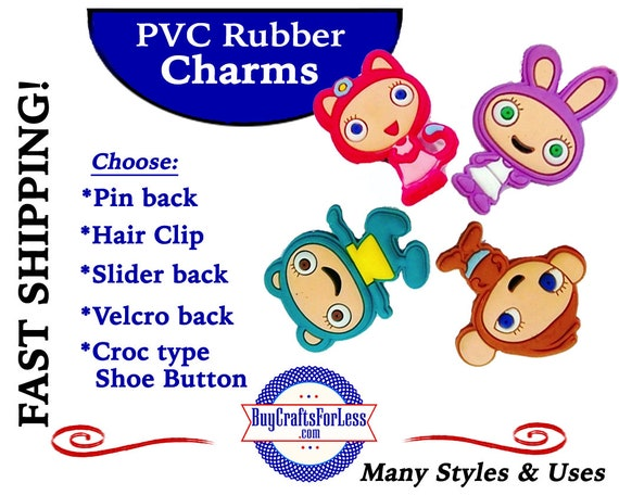 PVC Charms, Waybuloo  * 20% OFF Any 4 PvC Charms+ShipFREE *Choose back-Button, Pin, Slider, Hair Clip, Velcro, Magnet