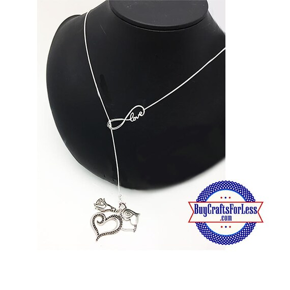 """Heart INFINITY Necklace with 4 CHARMS, 26"""" +FREE SHiPPiNG & Discounts*"""