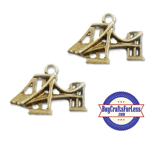BRIDGE, SF Bridge, NY Bridge Charms, Bronze, 8, 12, 24 pcs +FReE ShiPPing & Discounts*