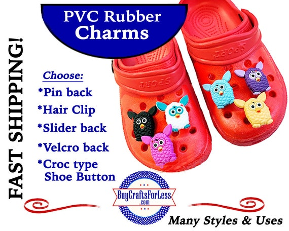 PVC Charms, FURBY * 20% OFF Any 4 PvC Charms+ShipFREE *Choose back-Button, Pin, Slider, Hair Clip, Velcro, Magnet