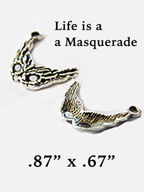 Masquerade Charms, 6 pcs  **FREE U.S. SHIPPING**