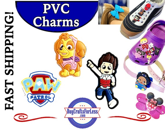 PVC Charms, Paw Patrol * 20% OFF 4 * 1.99 Shipping * For Shoes, Hair, Pins-Choose back-Button, Pin, Slider, Hair Clip, Velcro