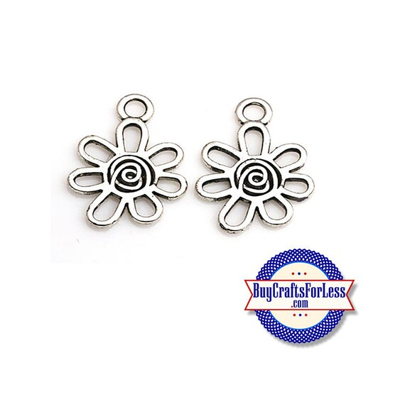 Spring Curly FLOWER Charms, 6, 12, 24 pcs  +FREE SHiPPiNG & Discounts*