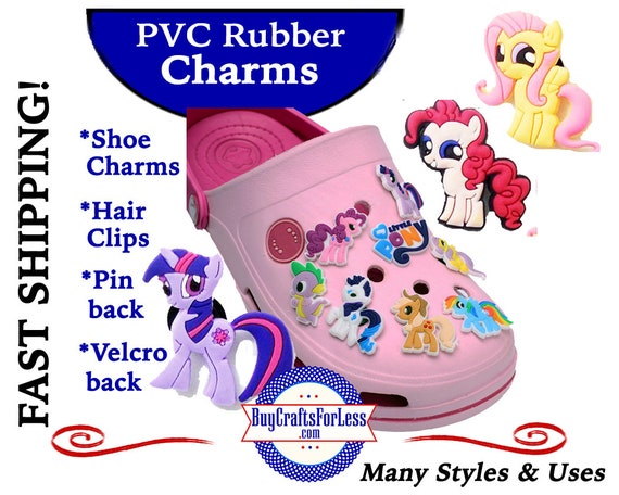 PVC Charms, Lil' Pony,  * 20% OFF Any 4 PVC Charms * 1.99 Shipping * For Shoes, Hair, Pins- Choose Button, Pin, Slider, Hair Clip, Velcro