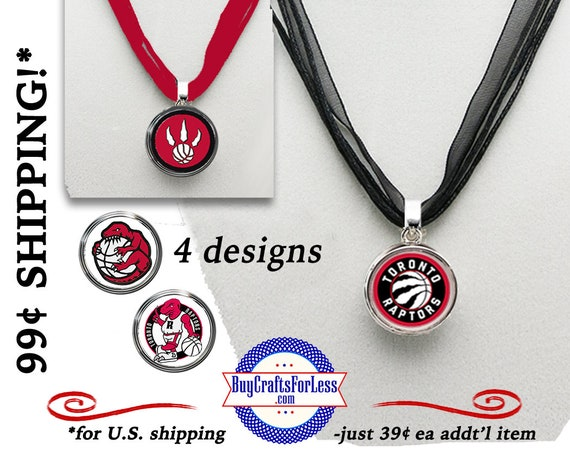 TORONTO Basketball Interchangeable PENDANT, CHooSE Design and Cord - Super CUTE!  +FReE SHiPPiNG & Discounts*