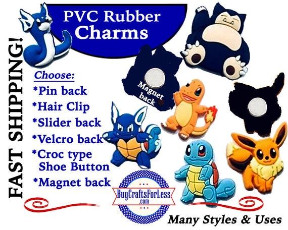 PVC Charms, Pikachu * 20% OFF Any 4 PvC Charms+ShipFREE *Choose back-Button, Pin, Slider, Hair Clip, Velcro, Magnet
