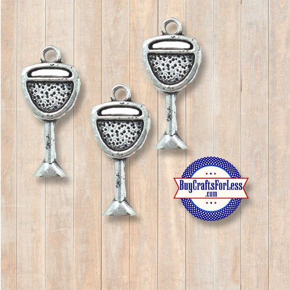 WINE Glass Charms, 8 pcs +Discounts & FREE Shipping*