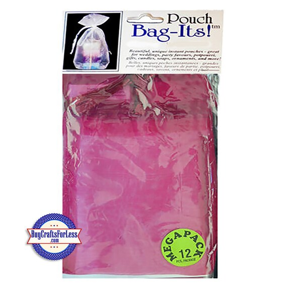 """Sheer Organza PARTY or JEWELRY Bag-its, 72 pcs 4 1/2"""" x 7"""", Rose burgundy +FREE Shipping + Discounts*"""