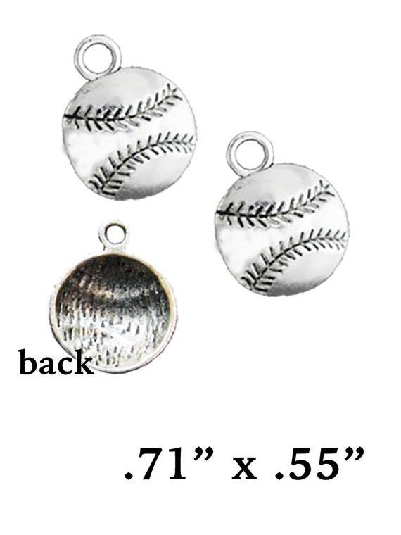 Baseball Charms, 6 pcs +Discounts & FREE Shipping*