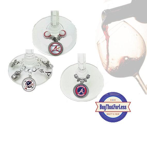 ATLANTA Wine or Bottle Charms, Napkin Rings, Set of 6, U Choose Style   +FREE Shipping & Discounts*