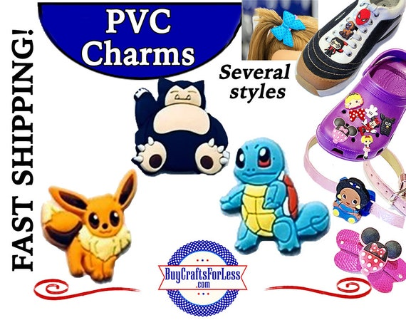 PVC Charms, Pikachu * 20% OFF Any 4 PVC Charms * 1.99 Shipping * For Shoes, Hair, Pins-Choose back-Button, Pin, Slider, Hair Clip, Velcro