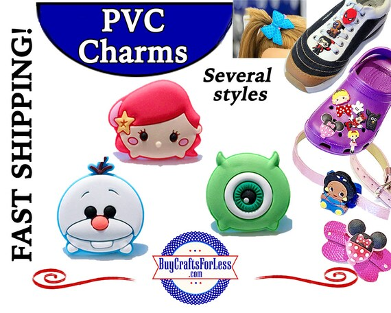 PVC Charms, TSuM TSuM * 20% OFF Any 4 PvC Charms * 1.99 Shipping *For Shoes, Hair, Pins-Choose back-Button, Pin, Slider, Hair Clip, Velcro