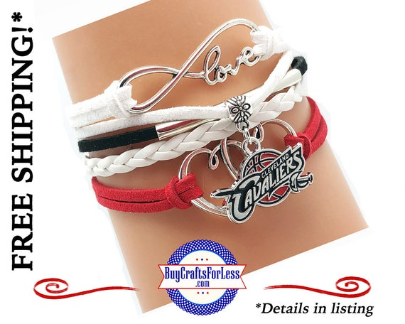 Cleveland BASKETBALL INFiNITY CHaRM BRaCELET, Leather/Suede, Choose Clasp - Super NiCE! +FREE SHiPPING & Discounts*