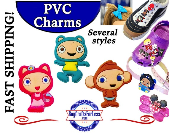 PVC Charms, Waybuloo  * 20% OFF Any 4 PVC Charms * 1.99 Shipping * For Shoes, Hair, Pins-Choose back-Button, Pin, Slider, Hair Clip, Velcro