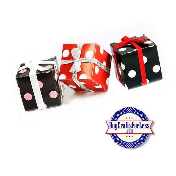 """Square 2"""" Dot GiFT BOX or PARTY FAVoRS with Tissue +FREE SHiPPiNG & Discounts*"""