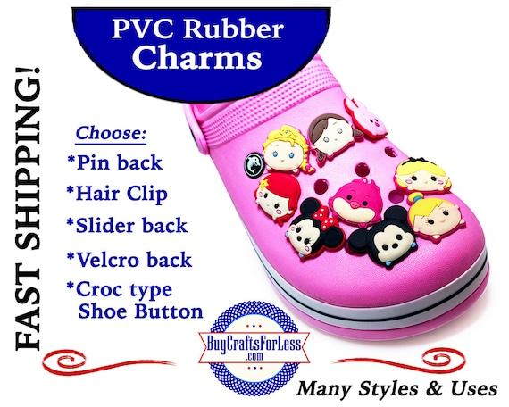 PVC Charms, TSuM TSuM * 20% OFF Any 4 PvC Charms+ShipFREE *Choose back-Button, Pin, Slider, Hair Clip, Velcro, Magnet